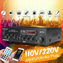 1200W 110V/220V bluetooth Dual Kanal Karaoke Mic Eingang Digitalen Reverb Home Stereo Verstärker Unterstützung USB SD FM AUX Eingang