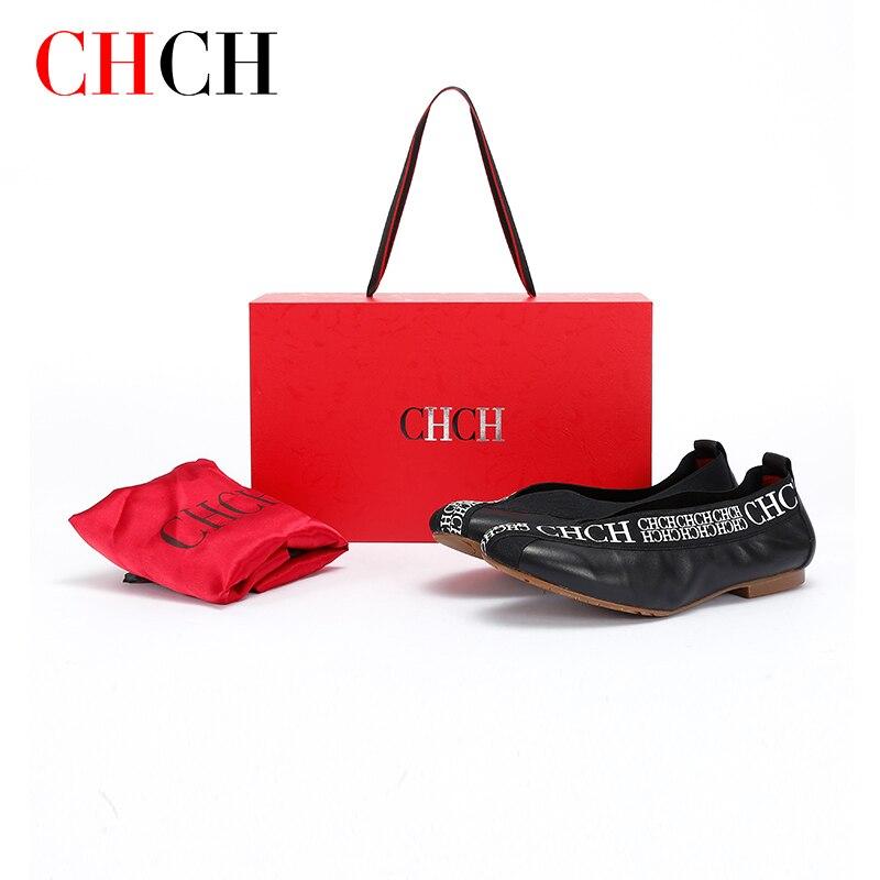 CHCH 2021 موضة النساء أحذية مسطحة ساحة تو أحذية من الجلد النساء المتسكعون امرأة الباليه الشقق أحذية فتاة