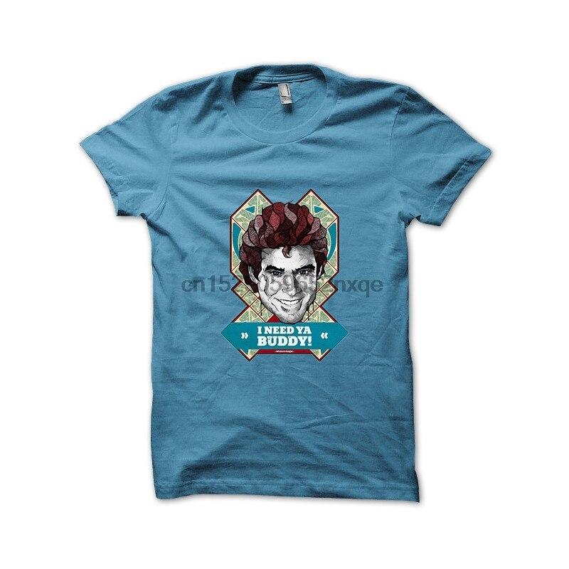 Мужская футболка K2000 Майкл рыцарь мне нужен Бадди ИС и цитата голубое небо футболки женские мужские футболки
