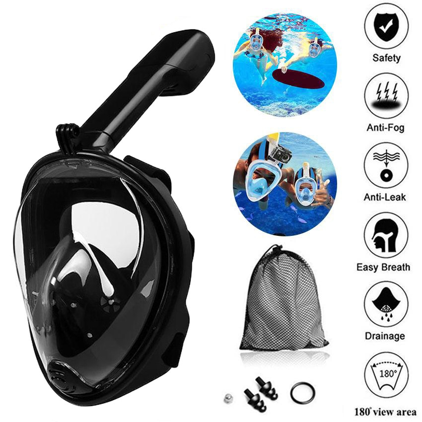6 colors scuba diving equipment underwater anti fog diving mask full face snorkeling mask for swimming spearfishing dive Upgrade Seaside Silicone Diving Mask Anti-fog Detachable Diving Snorkeling Full Face Mask  Swimming Spearfishing Dive