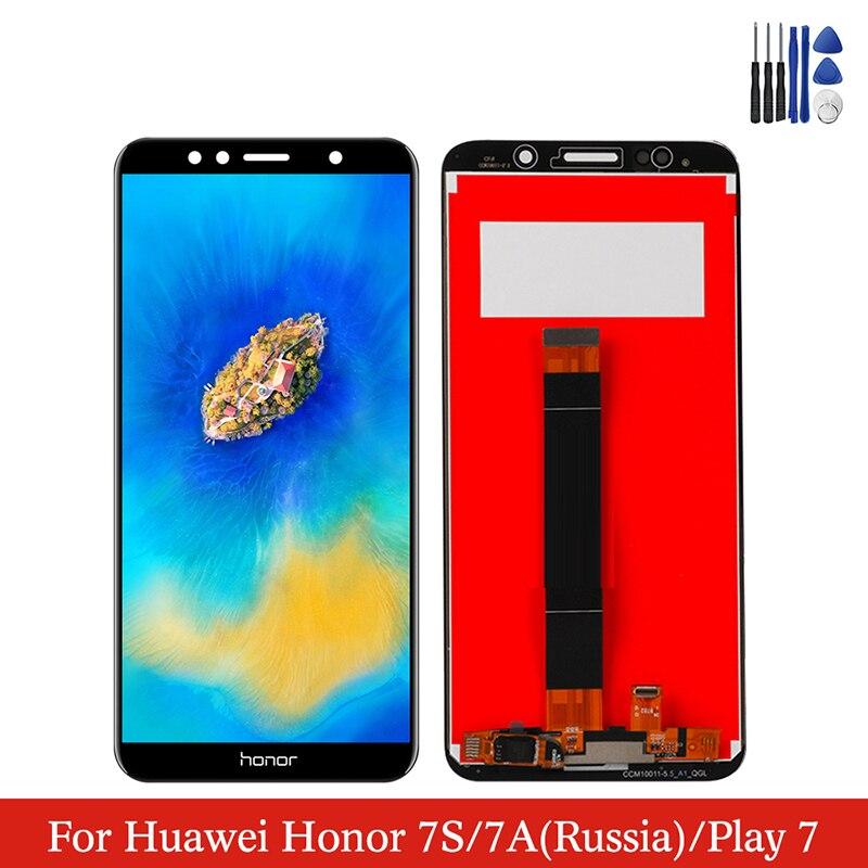 Для Huawei Honor 7A DUA-L22 ЖК-дисплей сенсорный экран дигитайзер сборка на Honor 7S DUA-LX2 Dua L22 LX2 100% тест