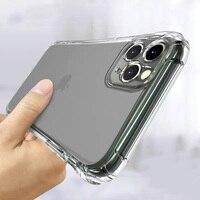 Противоударный силиконовый чехол для телефона iPhone 11 12 Pro Max, защитный чехол для объектива на iPhone 11 X Xr XS MAX 6 7 8 Plus, задняя крышка