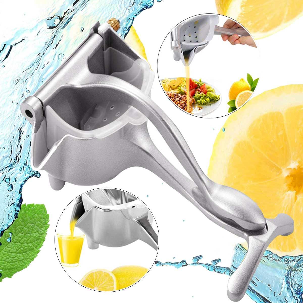 Exprimidor de frutas multifuncional exprimidor de jugo exprimidor de Metal plateado exprimidor de limón y naranja exprimidor de hogar