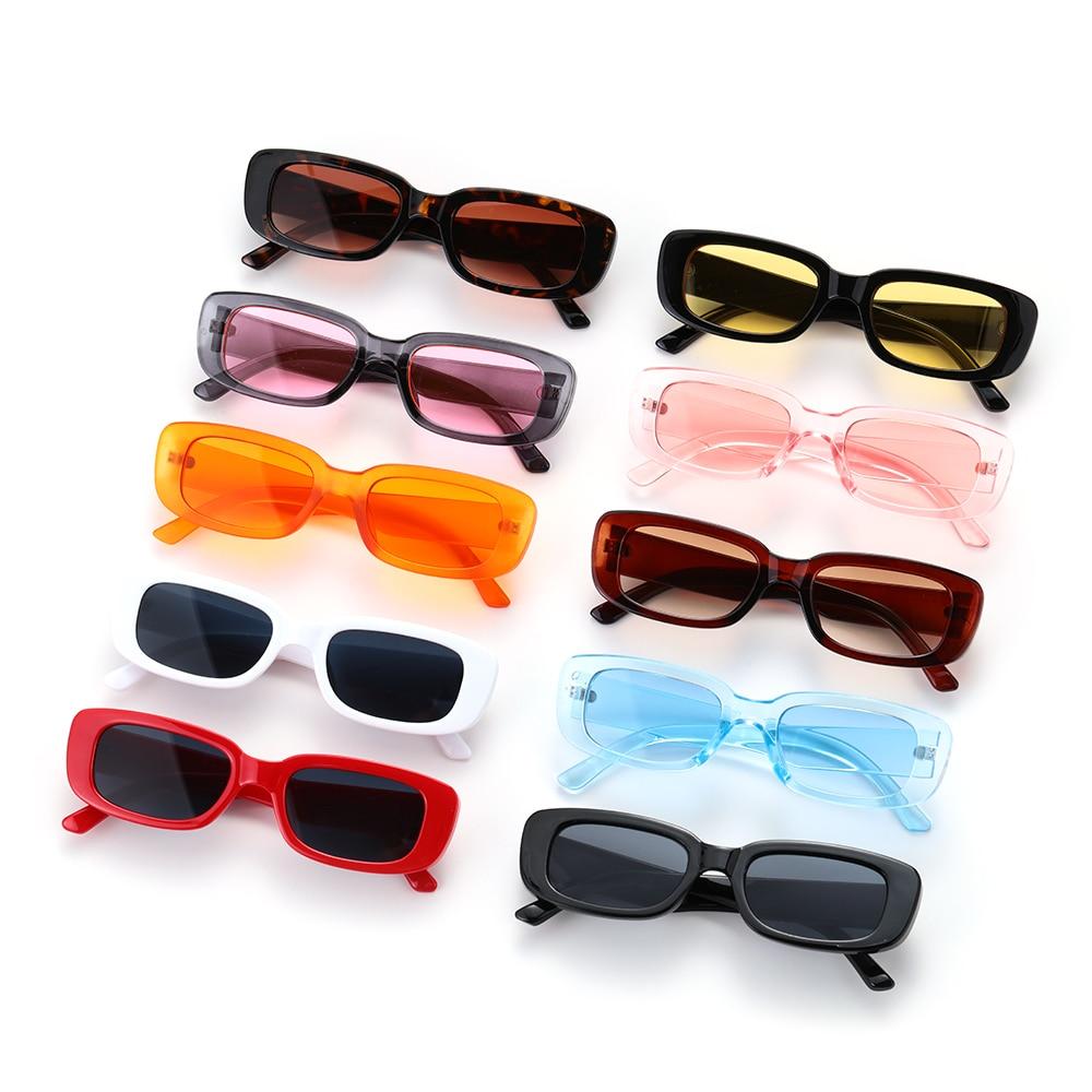 1PC Retro Women Sunglasses Small Rectangle Sun Glasses UV 400 Protection Eyewear For Travel Outdoor