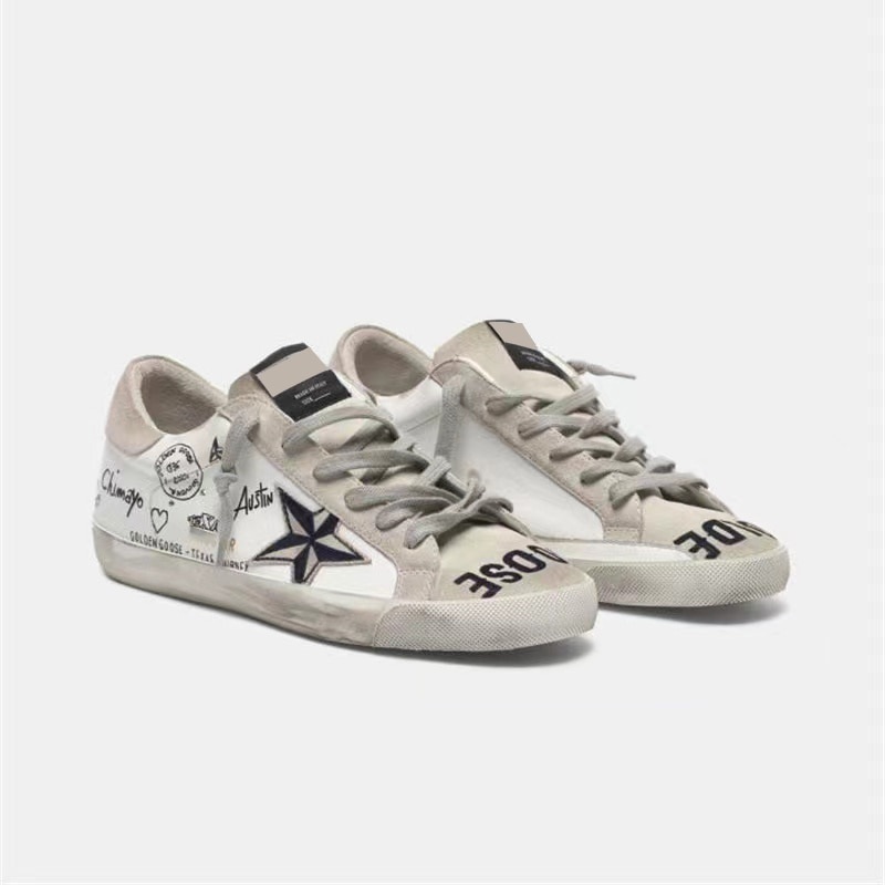 Autumn New Products Hand-painted Letters Graffiti Retro Old Small Dirty Kids Shoes Low Cut and Slippery Parent-child Shoes QZ29 enlarge