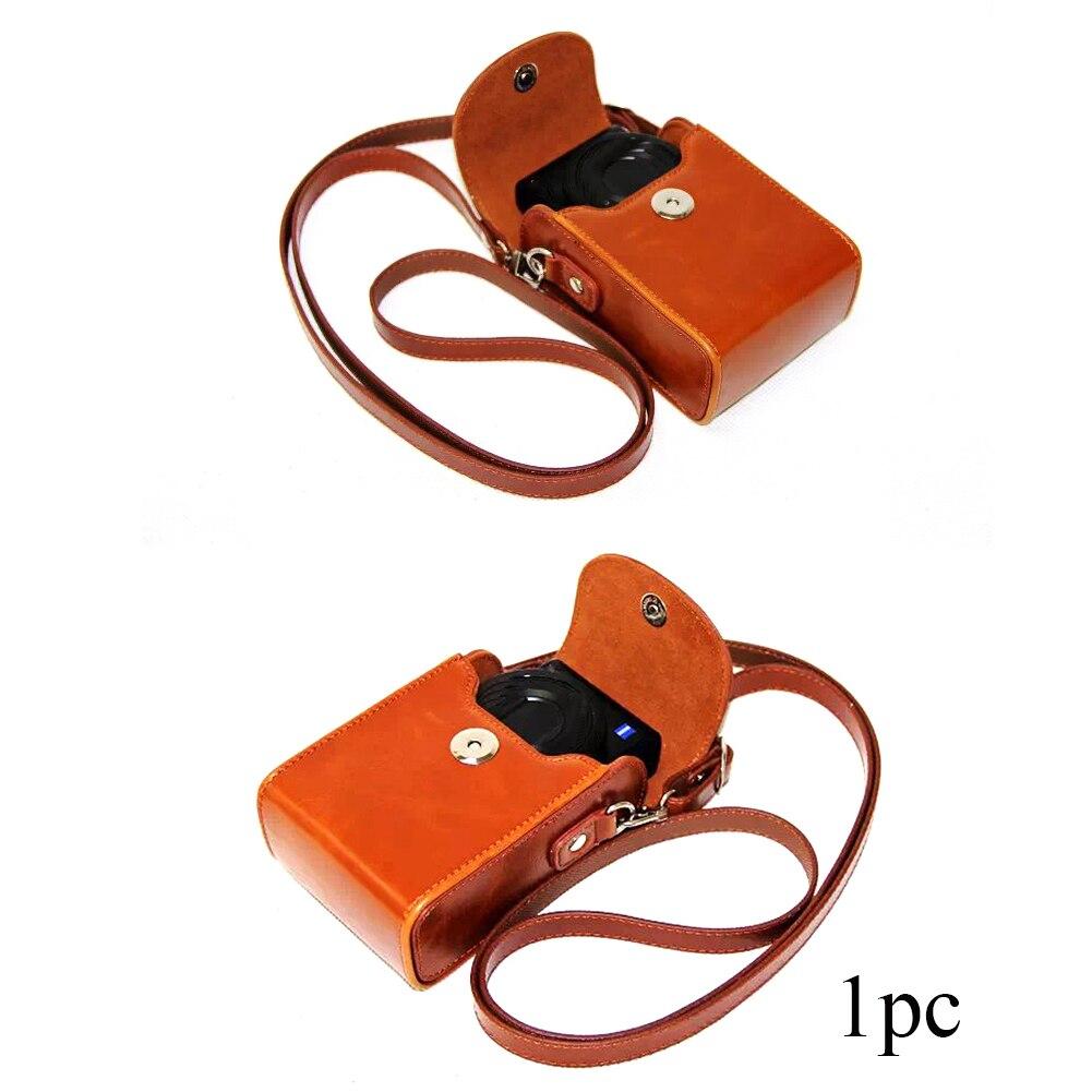 Saco da câmera de couro do plutônio capa protetora impermeável anti-risco acessórios caso de transporte ombro único para sony hx60 hx50 hx30