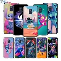 disney cartoon stitch for samsung galaxy a8 a9 a7 a750 a6 a5 a3 a6s a8s star plus 2016 2017 2018 black phone case