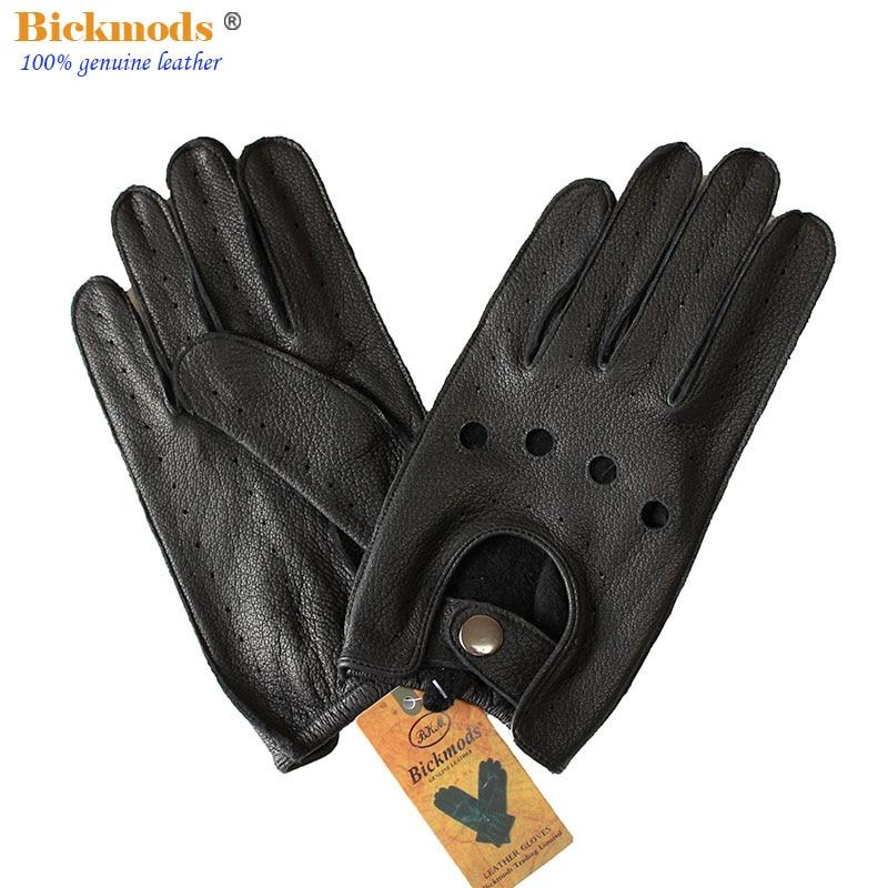 Перчатки для вождения мужские кожаные, тонкие однослойные Мотоциклетные Перчатки из оленьей кожи с длинными пальцами для езды на открытом ...