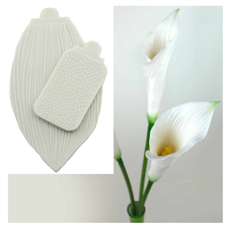 Super Große Calla Lily & Tulpe Blatt Vene Silikon Form Kuchen Dekorieren Werkzeuge Lebensmittel Sicher Fondant Kuchen Form Blume Blütenblatt paste K629