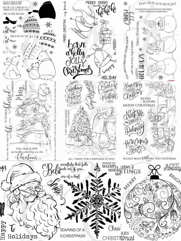 Frohe Transparent Klar Briefmarken für DIY Scrapbooking/Karte, Der/Kinder Weihnachten Spaß Dekoration Liefert