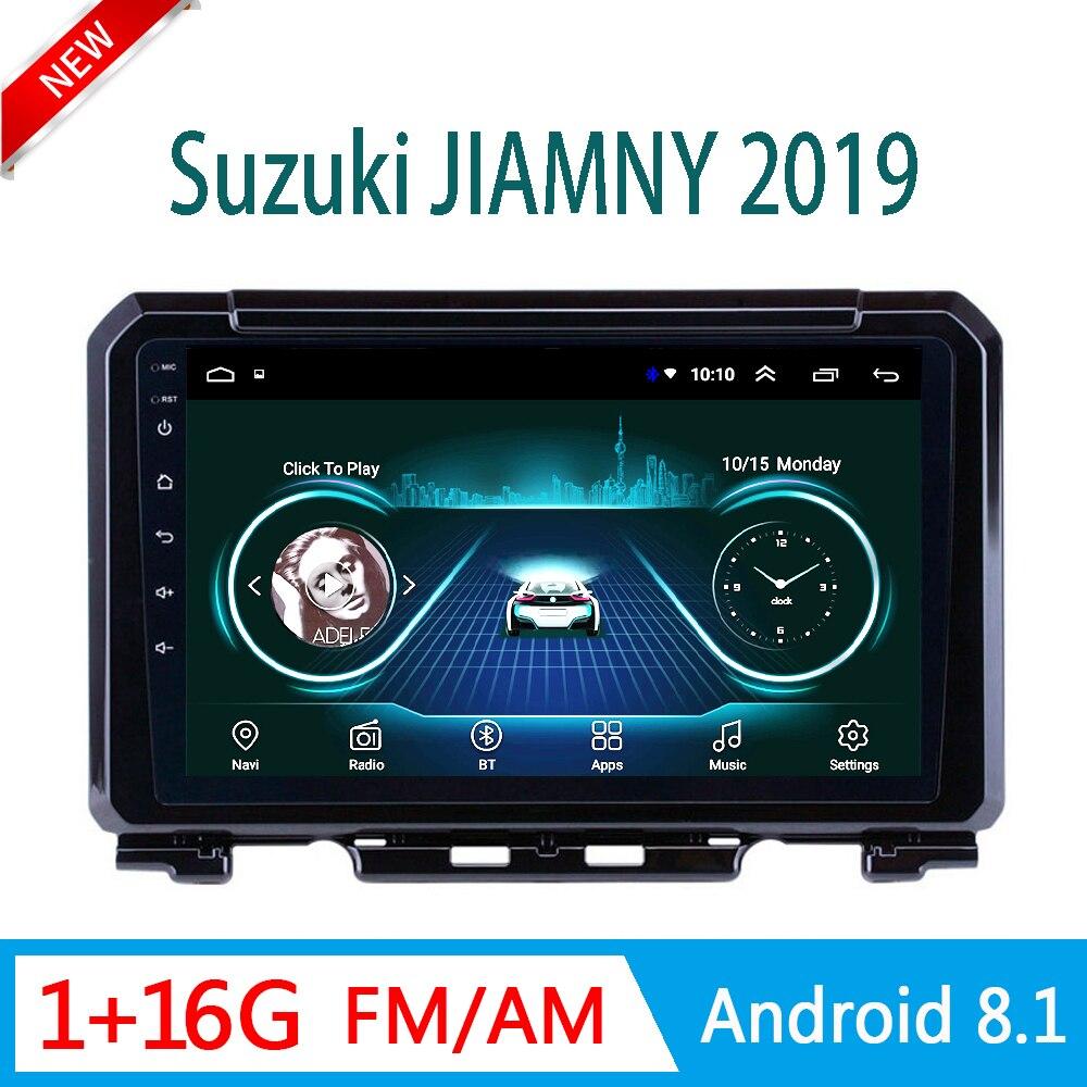 La radio del coche de Android para Suzuki JIMNY 2019 reproductor de DVD multimedia sistema de audio y video de navegación GPS FM USB 1 din enlace espejo