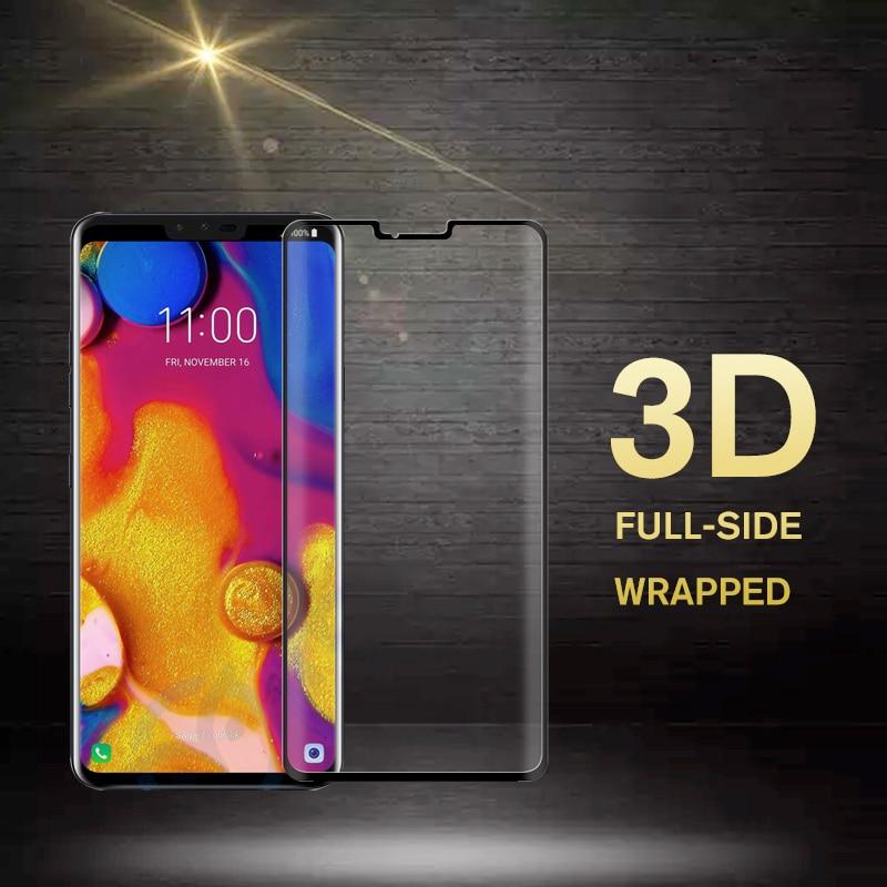 6D закаленное стекло с изогнутыми краями для LG G7 G8 ThinQ защитная пленка на экран для LG V50 V40 V35 V30 защитное стекло