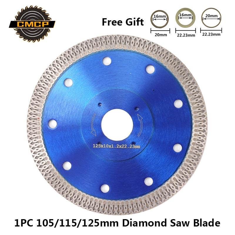 1pc 105/115/125mm Diamond Saw Blade For Angle Grinder Diamond Disc For Cutting Ceramics Porcelain Tiles Diamond Cutting Disc