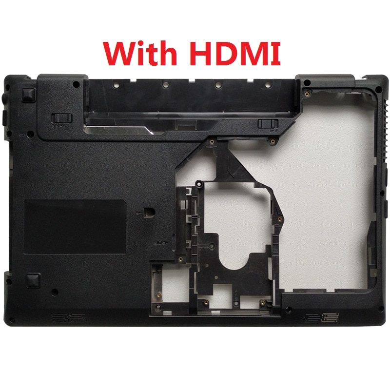 New Laptop Bottom Cover For Lenovo G570 G575 Bottom Case Base Black with HDMI Combo new original bottom base cover for msi gv62 7rc 7rd 8rd bottom case 3076j4d23 black
