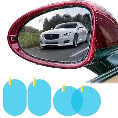 2Pcs/set Rainproof Car Accessories Car Mirror Window Clear Film Membrane Anti Fog Anti-glare Waterproof Sticker Driving Safety