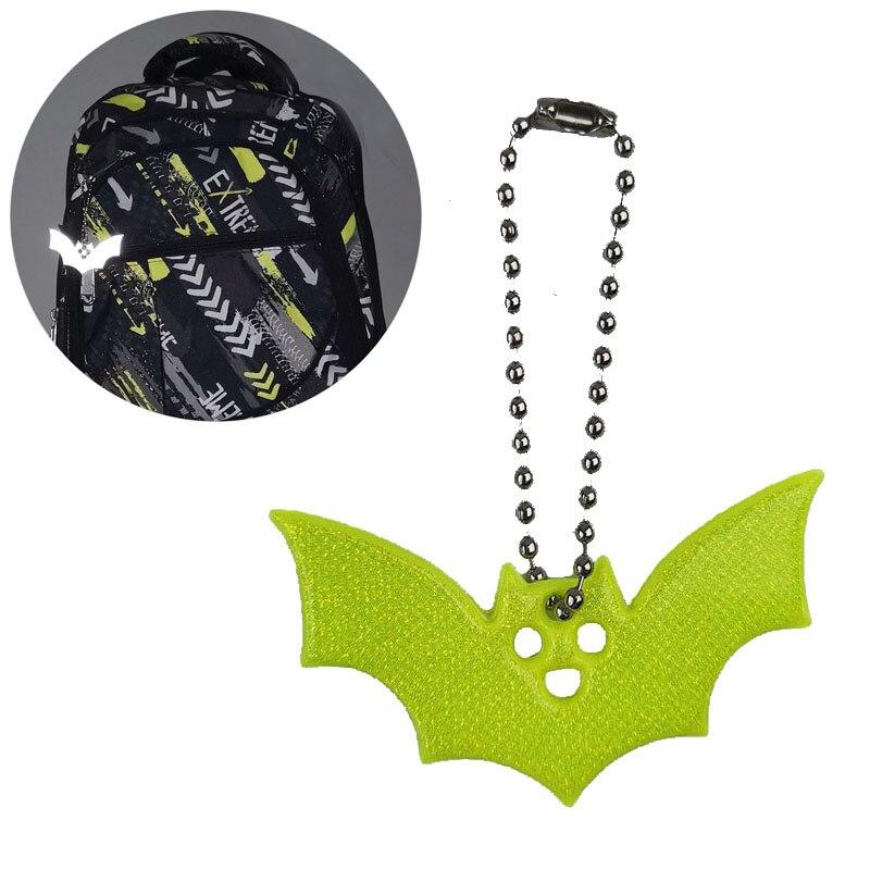 Светоотражающие брелоки в форме летучей мыши, аксессуары для украшение подвеска на сумку, светоотражающие брелоки для безопасного использ...