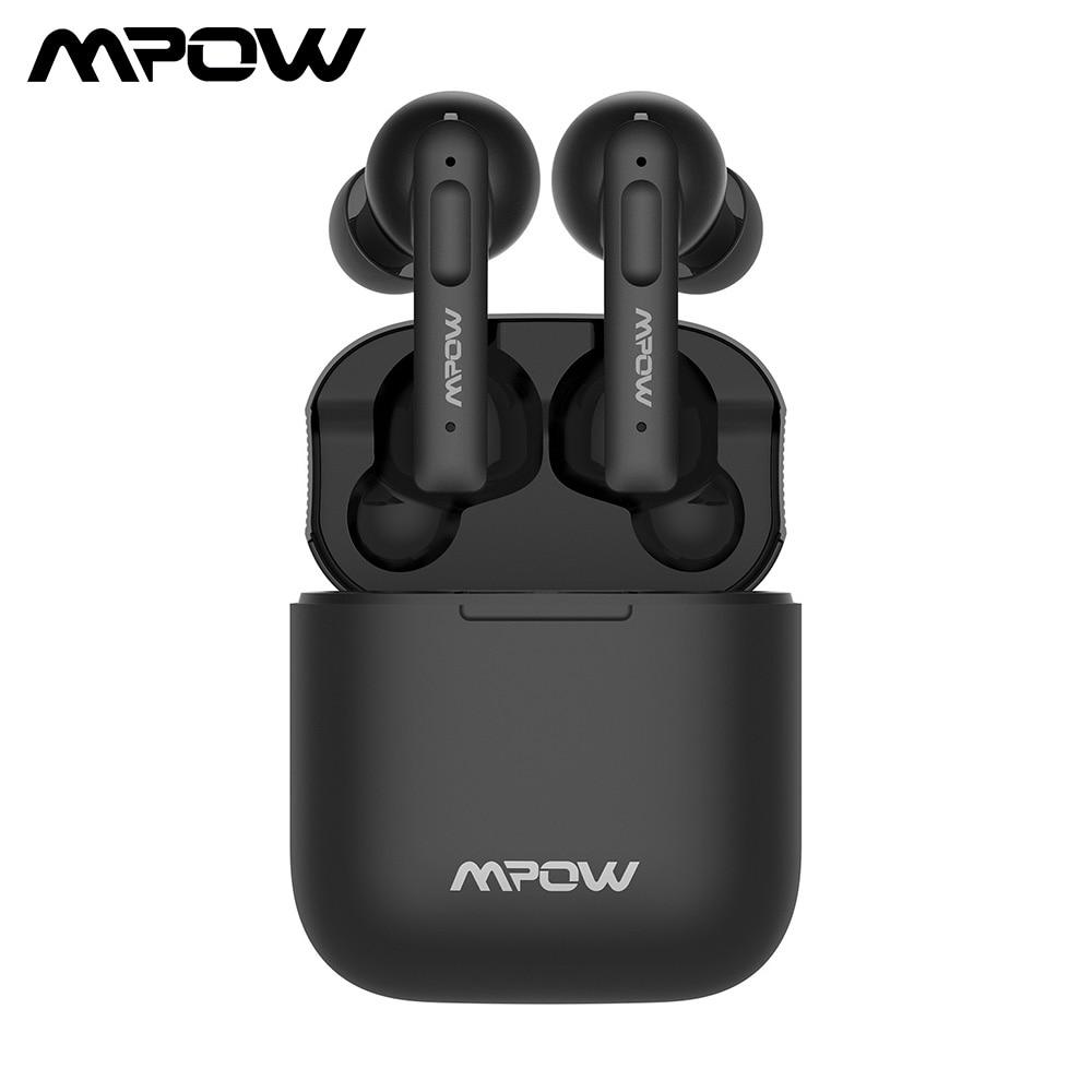 Mpow X3 ANC Ture سماعات لاسلكية بلوتوث 5.0 اللاسلكية سماعات مع ميكروفون التحكم باللمس نشط إلغاء الضوضاء TWS سماعة