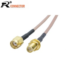 2 teile/los RP Sma-buchse auf RP SMA Männlichen RG316 RF Koaxialkabel RF Coax Jumper Verlängerung Zopf Kabel 5CM 10CM 15CM 20CM 1 teile/los