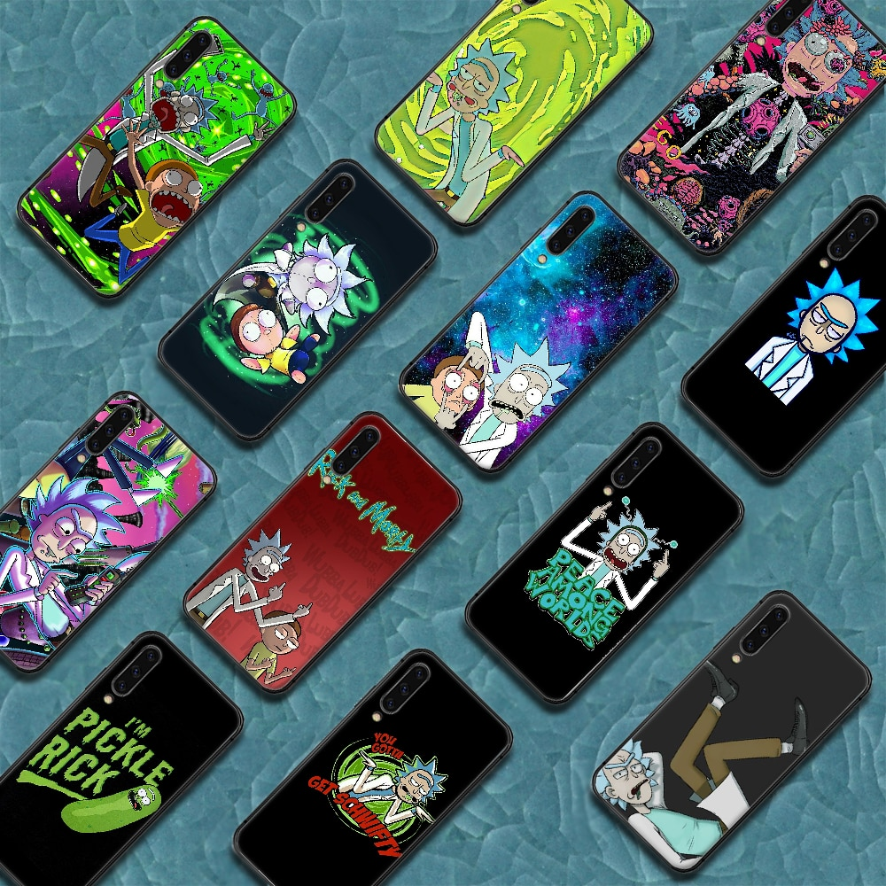 Rick or Morty ANIME Phone Case Cover For Samsung Galaxy A7 8 10 20 20e 21 30 30S 31 41 50 50S 51 70