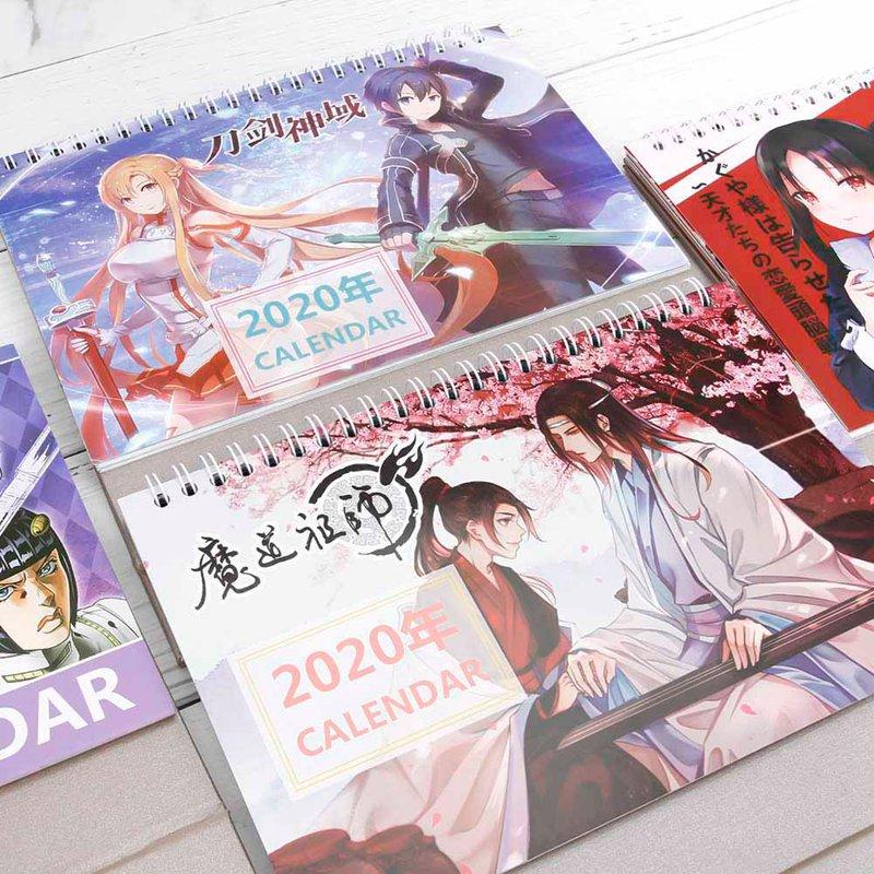 2020 Anime MoDaoZuShi Kaguya-sama Love Is War Sword Art Online Desk Calendar Table Calendars Daily Schedule Planner
