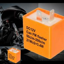 Interrupteur clignotant clignotant moto 2 broches   Interrupteur de moto, vitesse réglable, relais électronique de remplacement, winker clignotant, relais fixe