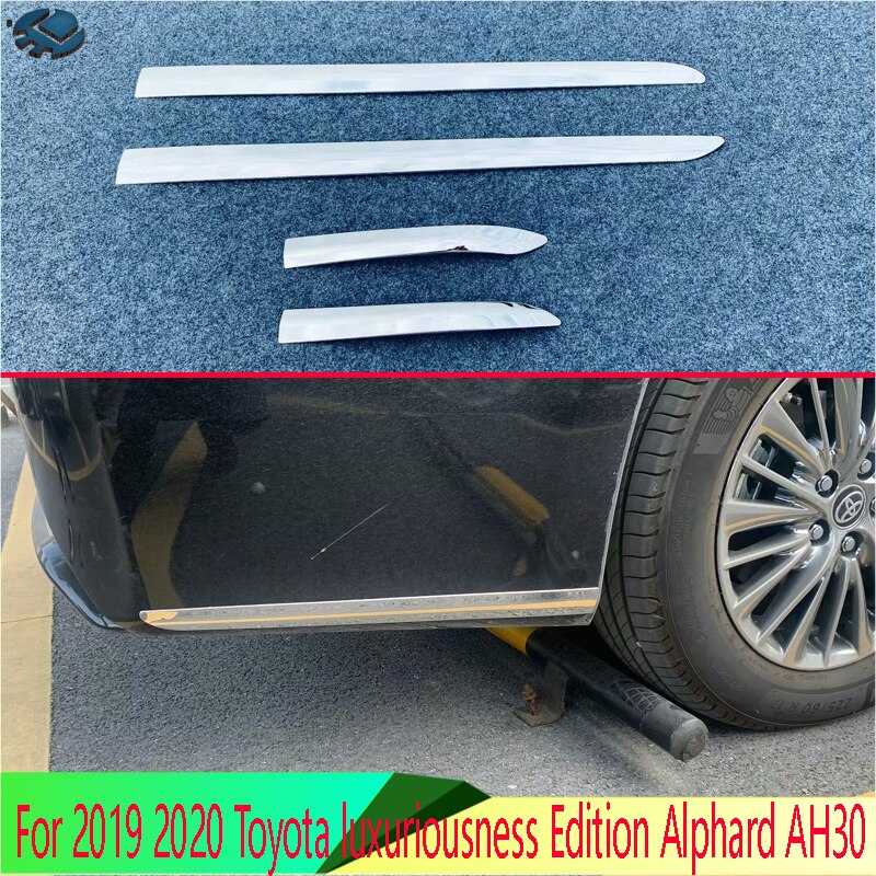 Para 2019 2020 Toyota luxuriousness Edition Alphard AH30 accesorios de coche de acero inoxidable frontal y embellecedor de Protector de Parachoques Trasero