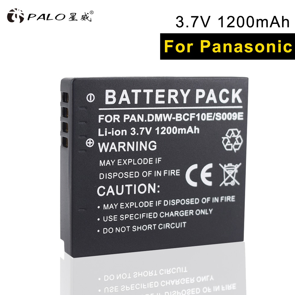 PALO BCF 10E 1 stücke li-ion kamera batterie DMC-TS1/2GK FX580/48/40/550/68 /60/700/75/65GK FS25/15/7/6/4/42GK FH3 /1/22/GK FP8/TF2/F2