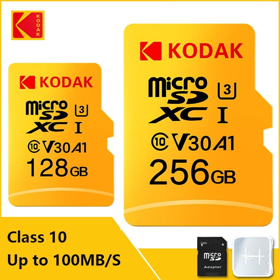 Kodak Memory Card High Speed 100MB/s 32GB A1 Class 10 UHS-I 64GB 128GB Micro SD Card V30 U3 TF Card for Camera Smartphone Game