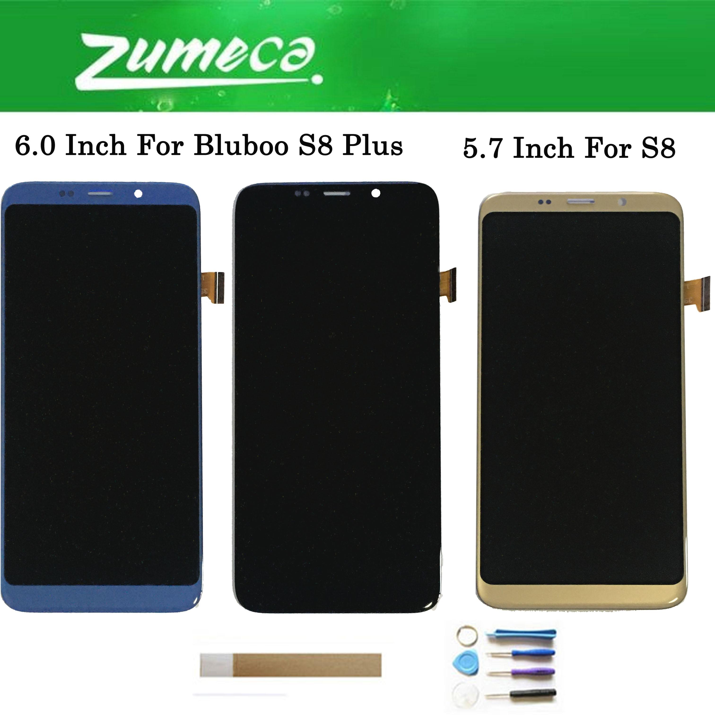 Original para Bluboo S8 / Bluboo S8 Plus pantalla LCD + Digitalizador de pantalla táctil negro dorado azul para Bluboo S8 +