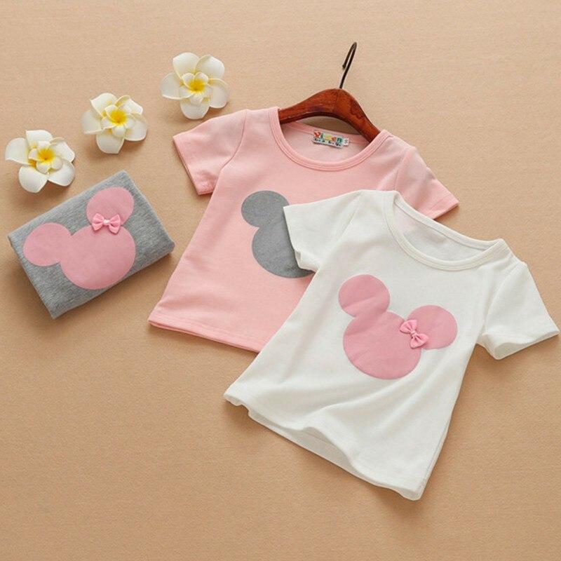 Camiseta de manga larga para niñas, camiseta de fondo para niños, otoño 2019, camiseta de dibujos animados bordada de algodón con cuello redondo, camiseta de dibujos animados