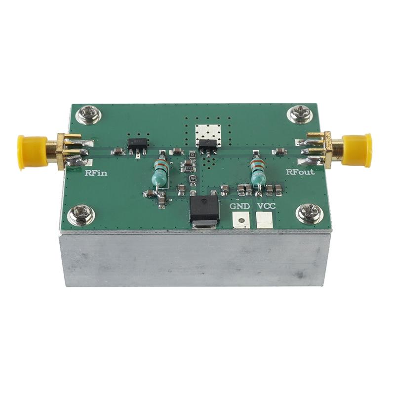 Amplificador FM de banda ancha RF 1-512MHz 1,6 W HF FM, VHF, UHF RF Placa de módulo amplificador con accesorio de disipador de calor