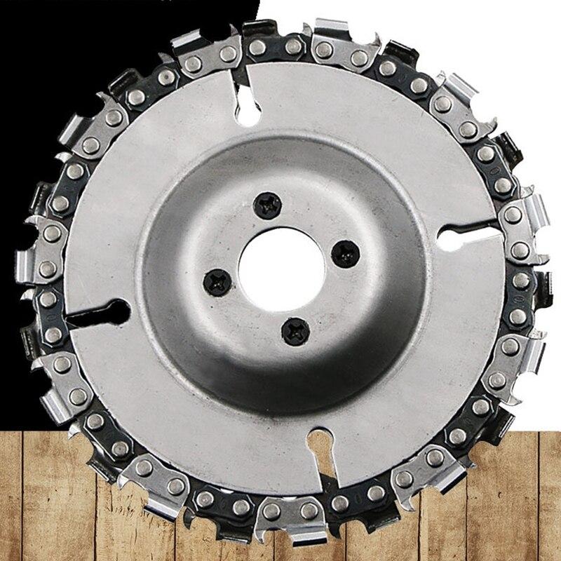 Placa de cadena, disco de tallado de madera para amoladora angular, piezas de herramientas para cortar tallado, eliminación de tocón pequeño, cadena de eslabones, anillo de sierra