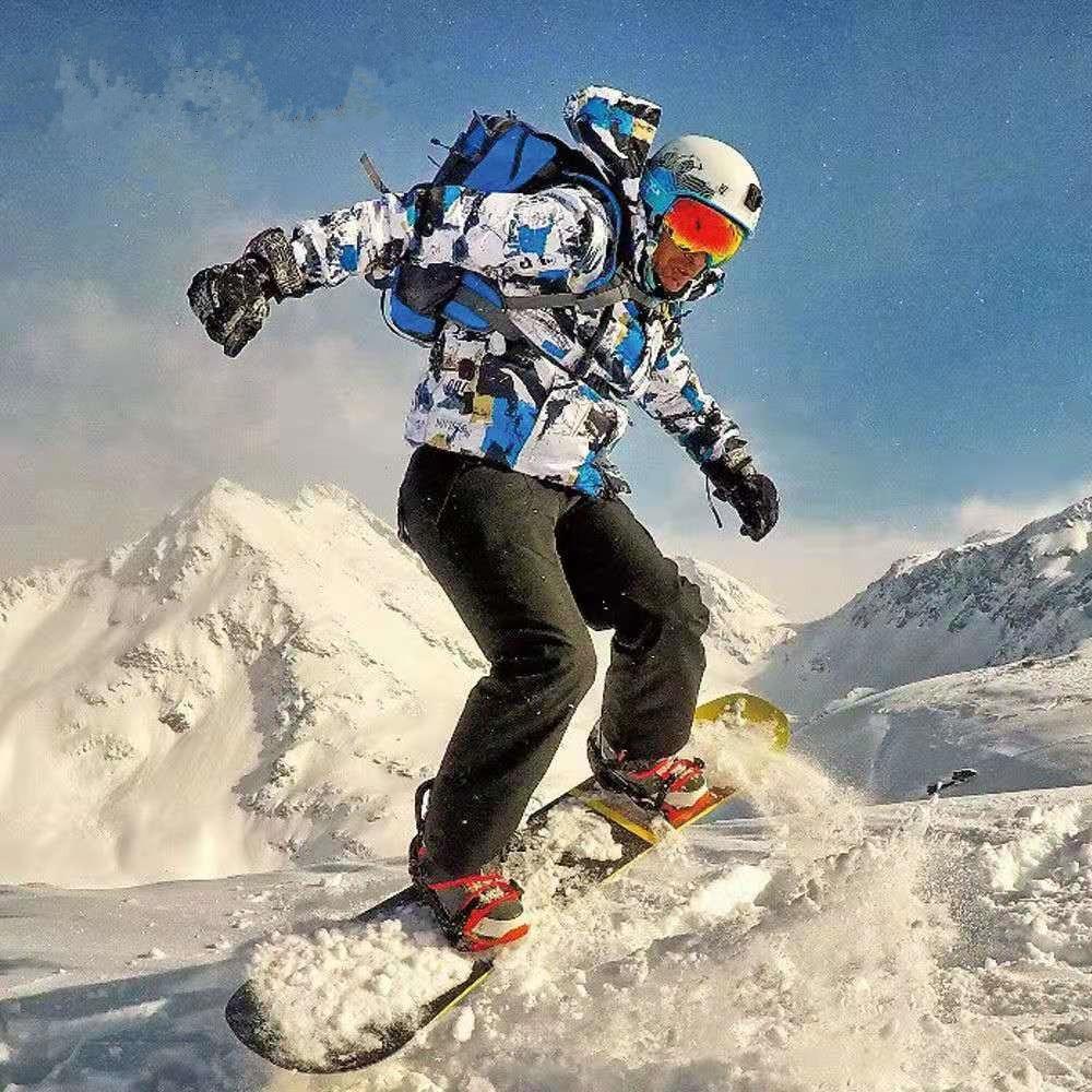 Зимние теплые ветрозащитные водонепроницаемые уличные спортивные зимние куртки и брюки лыжный костюм мужское горячее лыжное снаряжение с...