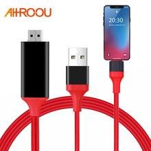 1,8 M 8 Pin a HDMI Cable HD 1080P HD HDMI Adaptador convertidor Cable USB Cable para HDTV TV AV Digital para iPhone para IOS 11/12