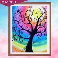 miaodu 5d diamond painting cross stitch kit landscape life tree diamond embroidery mosaic picture of rhinestones home decor