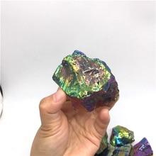 50g Bismuth Titanium angel aura quartz crystal gravel raw crystal tumbled stones