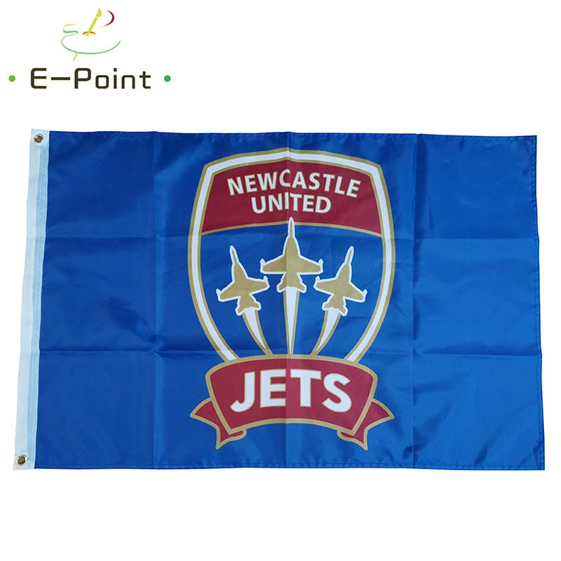 Flag of Australia A-League Newcastle Jets FC 3ft*5ft (90*150cm) Size Christmas Decorations for Home Flag Banner Gifts