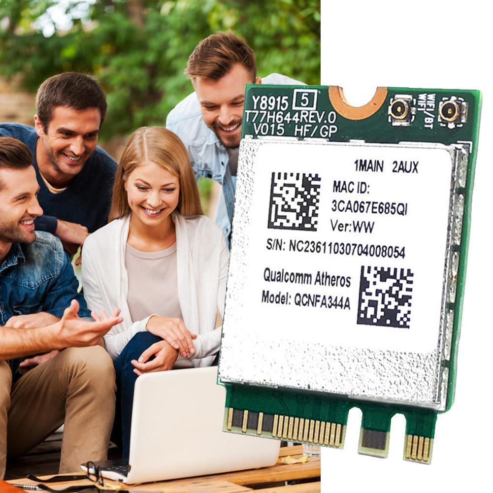 Tarjeta de red inalámbrica DW1820A QCNFA344A 5G802.11AC Asus, portátil Bluetooth para NGFF, compatible con Dell Alien Samsung NGFF Win7/8/10 N9K0
