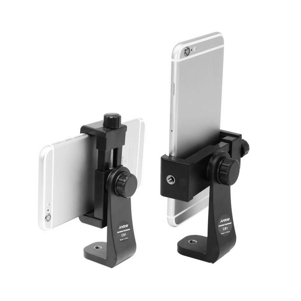 Andoer, soporte Universal de montaje en trípode giratorio, soporte de Clip para iPhone, Samsung, Meizu, Huawei smartphone 3