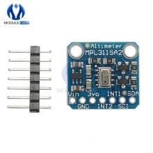 Mpl3115a2 i2c 기압 지능형 온도 압력 측정 고도 보드 센서 모듈 v2.0 arduino 고도계 5 v 용
