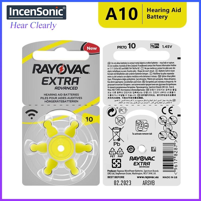 RAYOVAC Extra 60 x Hearing Aid Batteries A10 10A ZA10 10 S10, 60 PCS Hearing Aid Batteries Zinc Air 10/A10 недорого