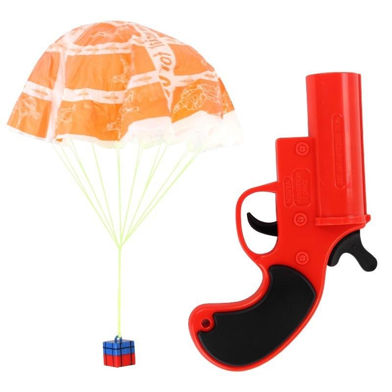 Еда Курица для спасательного сигнала Запуск парашют джедаев выживания Airdrop родитель-ребенок интерактивный игрушечный пистолет подарок