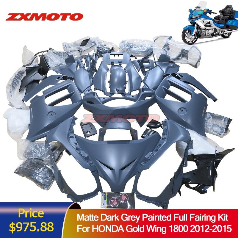ZXMOTO Full Fairing Kit Set Bodywork Panel For Honda Gold Wing 1800 2012 - 2015 GL1800 2013 2014 GoldWing 12 15 Plastic Paint