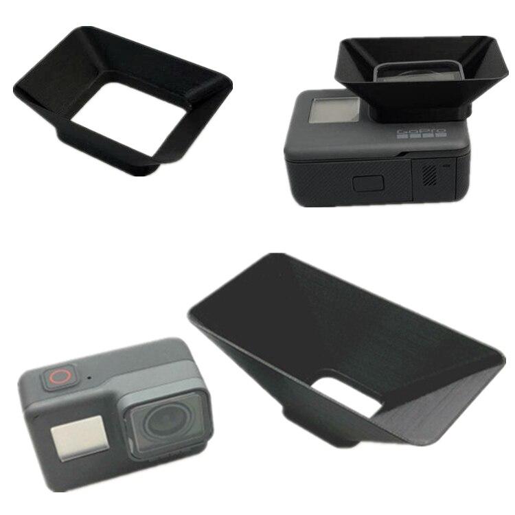 2 tamaños de cubierta de lentes de impresión 3D lentes de sol lentes de sombra para Gopro Hero 5 6 7 Cámara negra gran cubierta de sombrilla pequeña