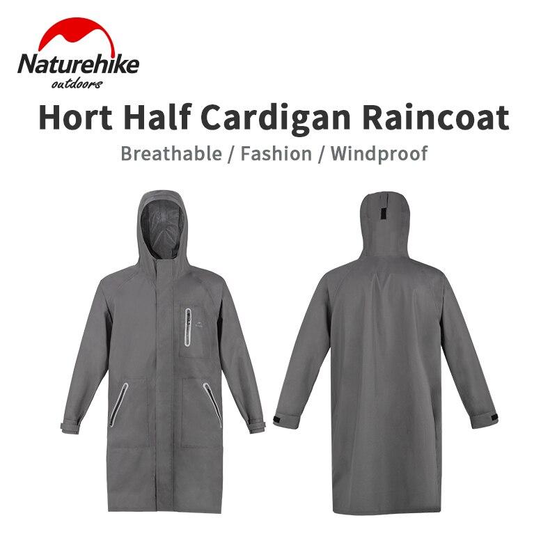 Naturehike Long Style Hooded Raincoat 420g Ultralight Rainstorm Grade Waterproof Nylon Jacket Outdoor Fashion Windbreaker Coat