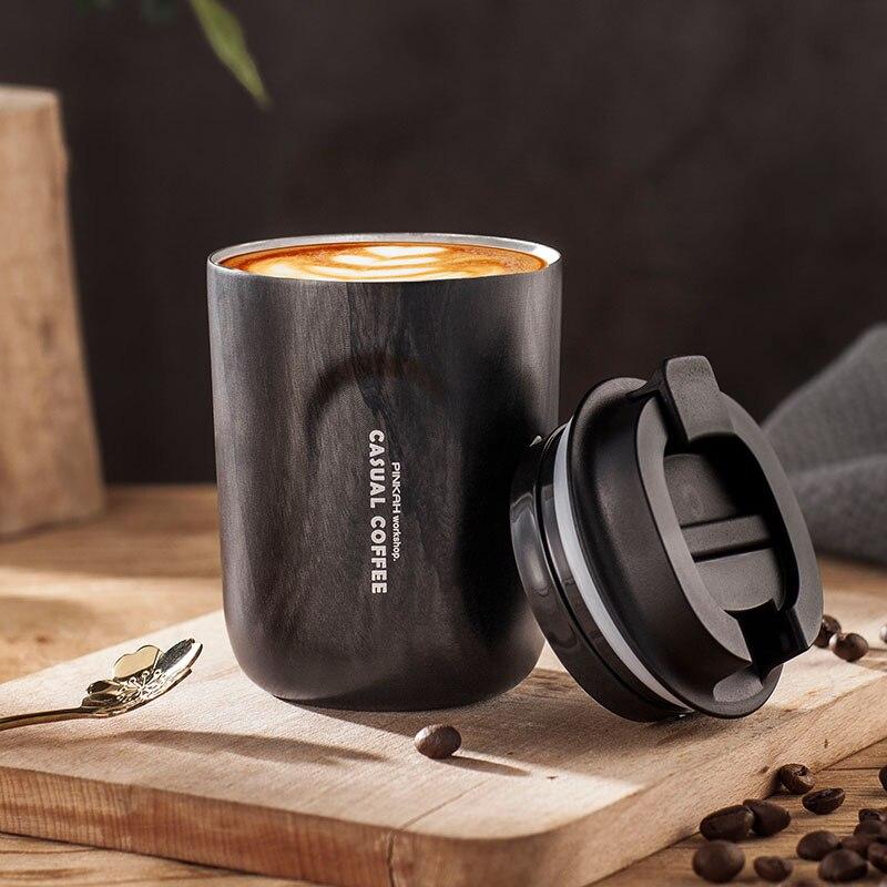 Pinkah 2020 nouveauté tasse à café sous vide avec couvercle isolé tasse à eau Portable voyage étanche en acier inoxydable étudiant Thermos