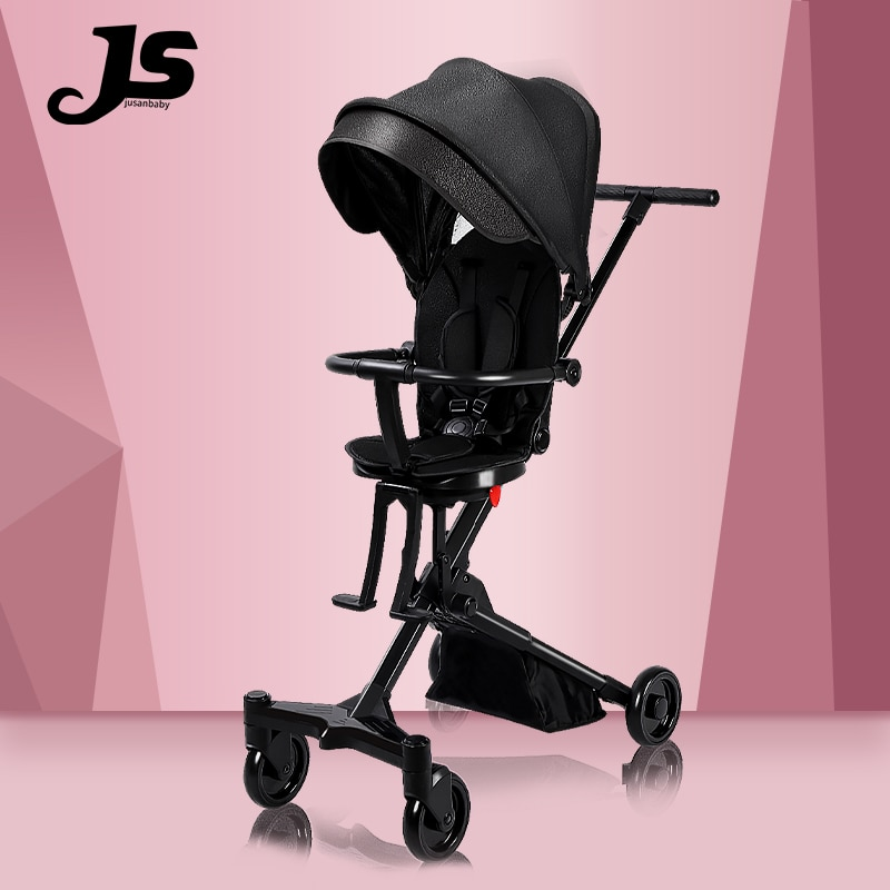 Baby Stroller Aluminum Alloy Light Foldable Sitting And Lying High Landscape Strollers Comfortable 360 Du Rotary Steering
