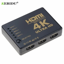 Kebidu Ultra Hd 4K Hdmi Splitter 1X5 Poort 3D 4K * 2K Video Hdmi Switch switcher Hdmi 1 Input 5 Uitgang Hub Met Ir Afstandsbediening