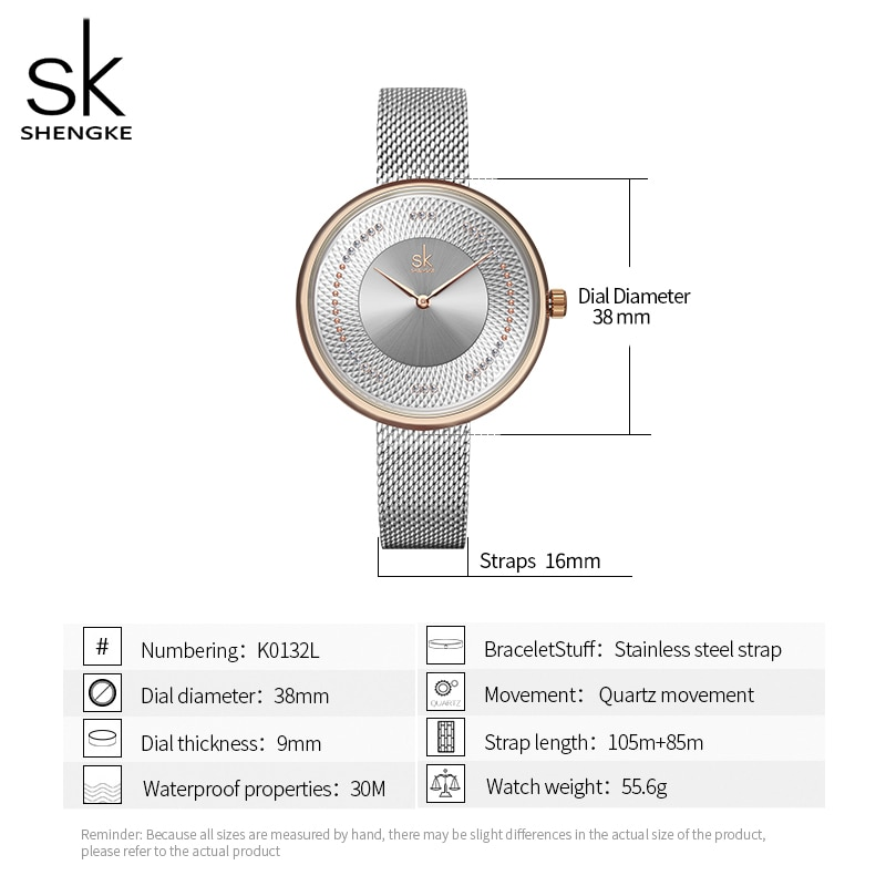 Shengke Creative Women Watches 3 Colors Stylish Japanese Quartz Ladies Watch Luxury Stainless Steel Clock Reloj Mujer Wife Gift enlarge
