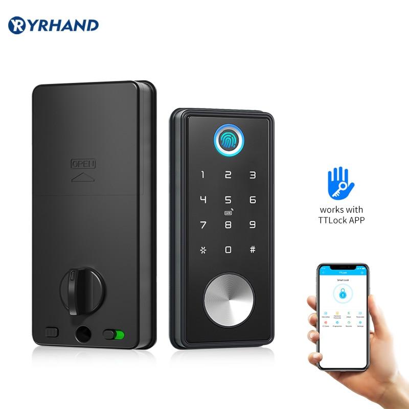 ttlock app smart home fingerprint lock cerradura inteligente wifi Biometric deadbolt electronic door lock